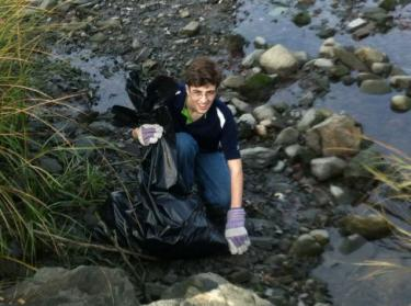 Fall Clean Up 2012 of Ash Creek Tidal Estuary