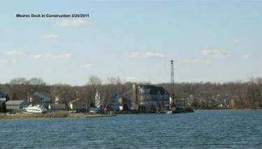 Mears Dock Construction March 24, 2011